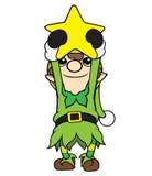 De Ster van de de Jongensholding van het Kerstmiself Stock Foto's