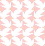 De ster van de duifholding Vlak stijl vector naadloos patroon met wit vector illustratie