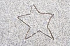 De Ster van de sneeuw Stock Afbeeldingen