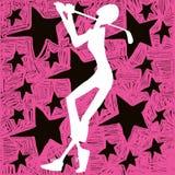 De ster van het golfmeisje royalty-vrije illustratie