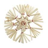De ster van het stro met het knippen van weg Royalty-vrije Stock Fotografie