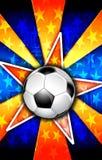 De Ster van het voetbal barstte Sinaasappel Stock Fotografie