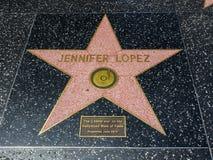 De Ster van Jennifer Lopez ` s, Hollywood-Gang van Bekendheid - 11 Augustus, 2017 - Hollywood-Boulevard, Los Angeles, Californië, Royalty-vrije Stock Afbeeldingen