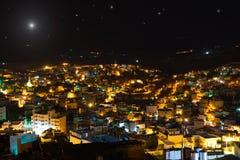 De ster van Kerstmis boven Bethlehem, Palestina, Israël Stock Afbeelding