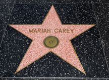 De Ster van Mariah Carey ` s, Hollywood-Gang van Bekendheid - 11 Augustus, 2017 - Hollywood-Boulevard, Los Angeles, Californië, C stock foto