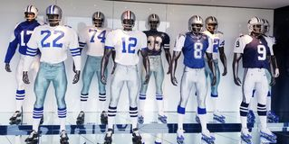 De Ster van de memorabiliauniformen van Dallas Cowboys TX royalty-vrije stock fotografie