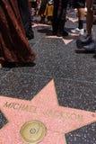 De ster van Michael Jackson op Hollywood-Gang van Bekendheid royalty-vrije stock afbeelding