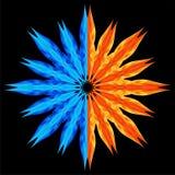 De ster van Multieventual. Water en brand. Royalty-vrije Stock Foto