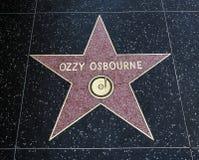 De Ster van Ozzy Osbourne ` s, Hollywood-Gang van Bekendheid - 11 Augustus, 2017 - Hollywood-Boulevard, Los Angeles, Californië,  Stock Fotografie