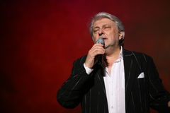 De ster van Russische en Sovjetmuziek, populair muziekidool, eerde de mens, miljonair, auteur, zanger, componist Vyacheslav Dobry Royalty-vrije Stock Fotografie