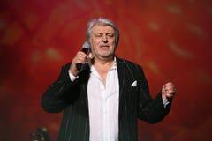 De ster van Russische en Sovjetmuziek, populair muziekidool, eerde de mens, miljonair, auteur, zanger, componist Vyacheslav Dobry Stock Foto