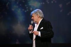 De ster van Russische en Sovjetmuziek, populair muziekidool, eerde de mens, miljonair, auteur, zanger, componist Vyacheslav Dobry Stock Afbeelding