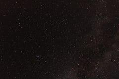 De sterachtergrond van de Astrophotographymelkweg voor astronomie, ruimte of kosmos, een heelal van de nachthemel, interstellaire royalty-vrije stock fotografie