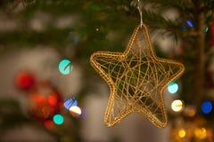 De sterachtergrond van de Kerstmisboom stock foto's