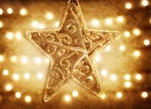 De sterdecoratie van Kerstmis Royalty-vrije Stock Afbeeldingen