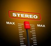 De stereomuziek toont Correct Spoor en Audio Stock Foto