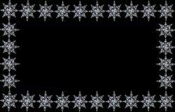 De stergrens van Sparkly op zwarte royalty-vrije illustratie