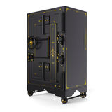 De sterke doos van de veiligheidsstorting in een retro stijl Royalty-vrije Stock Afbeelding