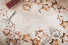 De sterkoekjes van de Kerstmispeperkoek stock afbeelding