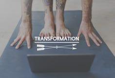 De Sterkte Zen Balance Concept van de yogatransformatie stock afbeelding