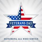 De sterlint van de V.S. van de veteranendag Stock Afbeelding