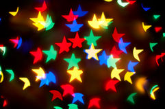 De sterren bokeh achtergrond van Kerstmis Royalty-vrije Stock Fotografie