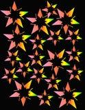 De sterren die van het neon in een abstract ontwerp exploderen Royalty-vrije Stock Foto