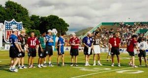 De sterren en de legenden van NFL QB Royalty-vrije Stock Foto