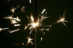 De Sterren en de Sterretjes van het vuurwerk Stock Foto