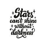 De sterren kunnen ` t zonder duisternis glanzen Royalty-vrije Stock Foto's