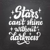 De sterren kunnen ` t zonder duisternis glanzen Stock Foto