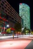 De sterren Postadmer Platz van de boulevard aan nachtverlichting Stock Afbeeldingen