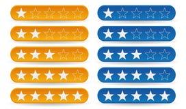 De sterren van de classificatie Royalty-vrije Stock Afbeeldingen