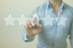 De sterren van de classificatie Royalty-vrije Stock Foto
