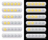 De sterren van de classificatie voor Web Stock Afbeeldingen