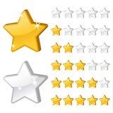 De sterren van de classificatie voor Web-2 Stock Foto