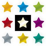 Kleurensterren (vector) Stock Fotografie