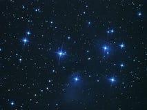 De sterren van de nachthemel, Pleiades Royalty-vrije Stock Foto's