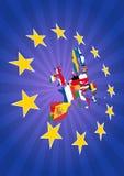 De sterren van Europa Stock Foto