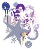 De sterren van Grunge royalty-vrije illustratie