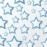 De sterren van het document. Vector illustratie. Royalty-vrije Stock Fotografie
