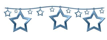 De sterren van het metaal Royalty-vrije Stock Afbeeldingen