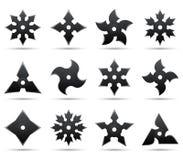 De sterren van Ninja Stock Afbeelding