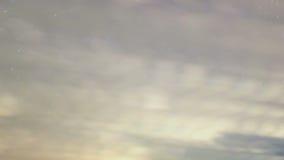 De sterren verlaten spiraalvormige sporen. Tijdtijdspanne stock video