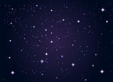 De sterrenachtergrond van de kosmische ruimte royalty-vrije illustratie