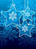De sterrenachtergrond van Kerstmis Stock Afbeeldingen