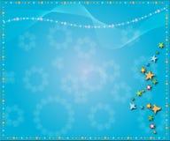De sterrenachtergrond van Kerstmis Royalty-vrije Stock Foto