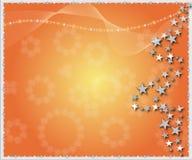 De sterrenachtergrond van Kerstmis Royalty-vrije Stock Afbeelding