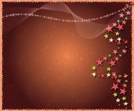 De sterrenachtergrond van Kerstmis Royalty-vrije Stock Afbeeldingen