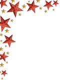 De sterrenvouw van Kerstmis - geïsoleerdet sterren Royalty-vrije Stock Fotografie